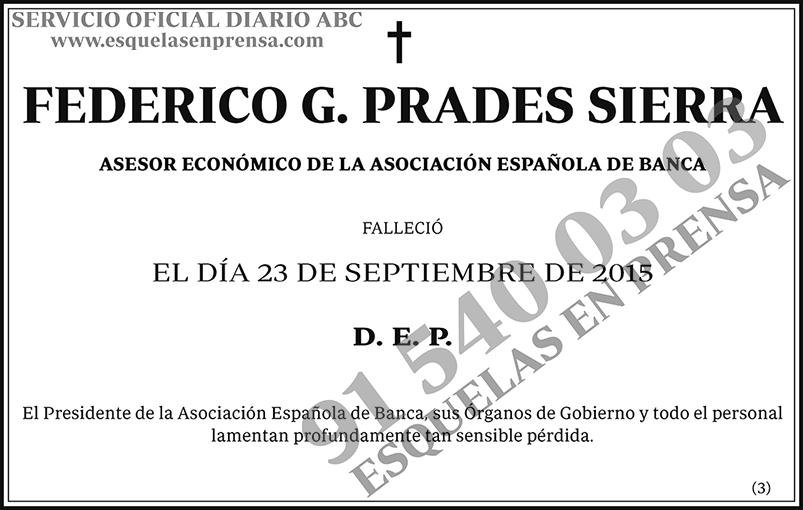 Federico G. Prades Sierra